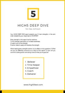 the deep strengths report